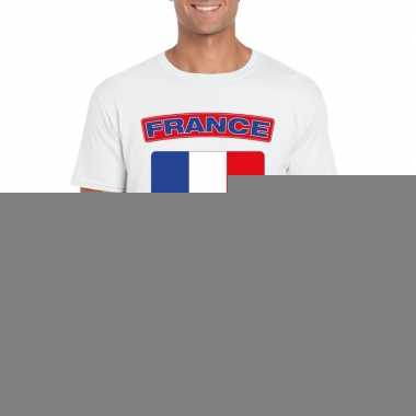 T shirt met franse vlag wit heren trend