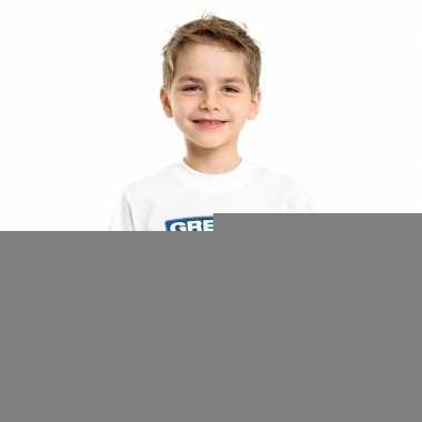 T-shirt met griekse vlag wit kinderen
