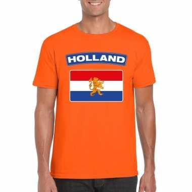 T-shirt met hollandse vlag oranje heren