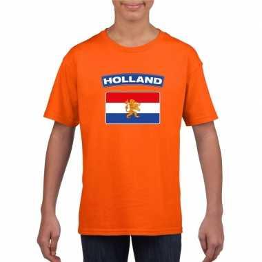 T-shirt met hollandse vlag oranje kinderen