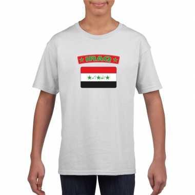 T-shirt met irakese vlag wit kinderen