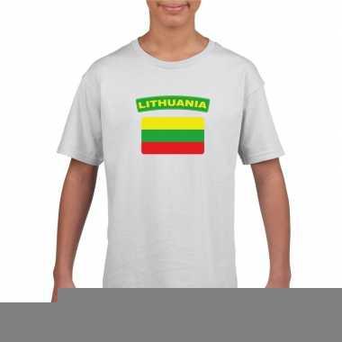 T-shirt met litouwse vlag wit kinderen