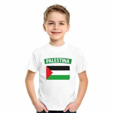 T-shirt met palestijnse vlag wit kinderen