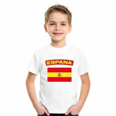 T-shirt met spaanse vlag wit kinderen