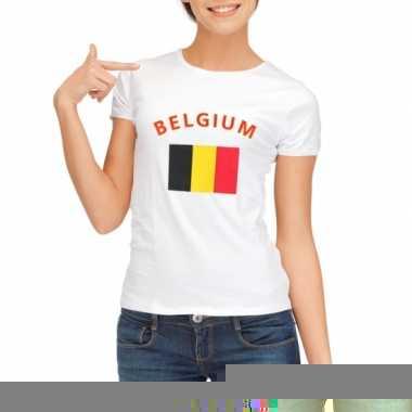 T-shirt met vlag belgie print voor dames