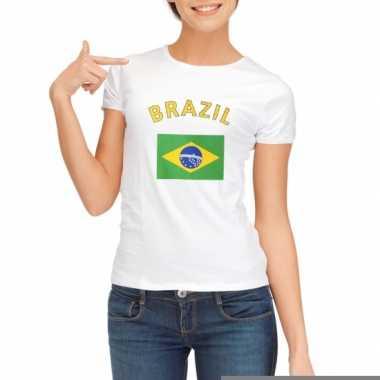 T-shirt met vlag brazilie print voor dames