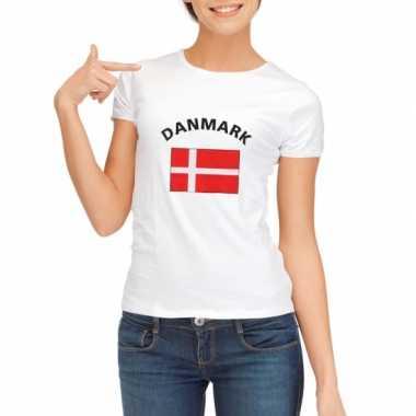 T-shirt met vlag deense print voor dames