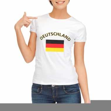 T-shirt met vlag duitsland print voor dames