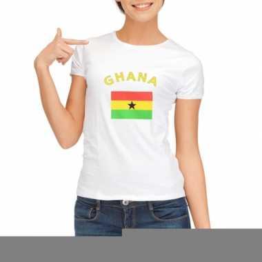 T-shirt met vlag ghanese print voor dames
