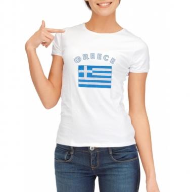 T-shirt met vlag griekse print voor dames