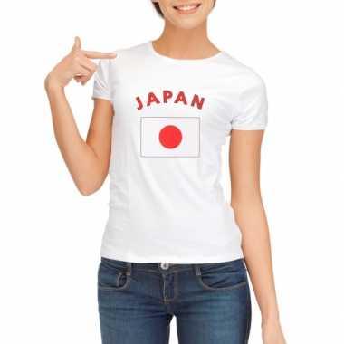 T-shirt met vlag japan print voor dames
