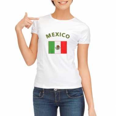 T-shirt met vlag mexico print voor dames