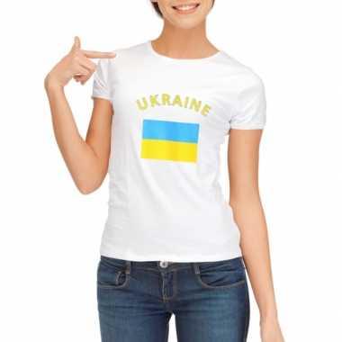 T-shirt met vlag oekraine print voor dames