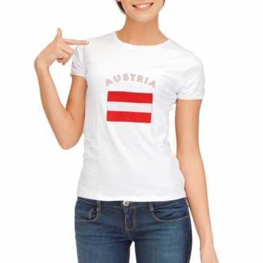 T-shirt met vlag oostenrijk print voor dames