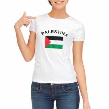 T-shirt met vlag palestina print voor dames