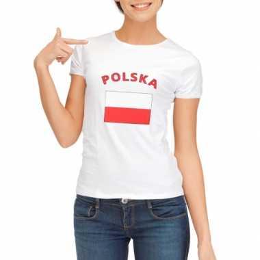 T-shirt met vlag polen print voor dames