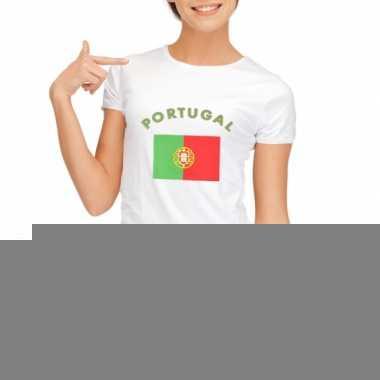 T-shirt met vlag portugese print voor dames