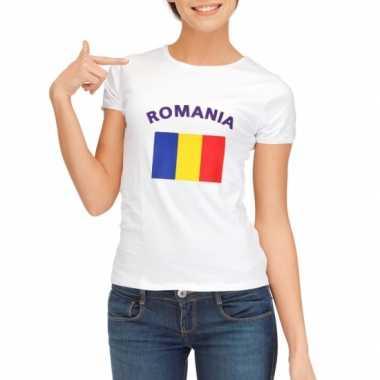 T-shirt met vlag roemeense print voor dames