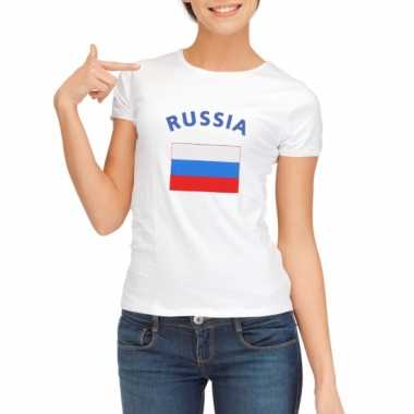 T-shirt met vlag rusische print voor dames