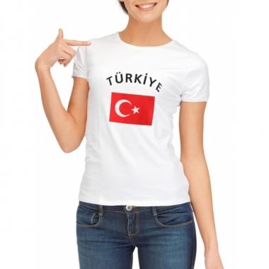 T-shirt met vlag turkse print voor dames