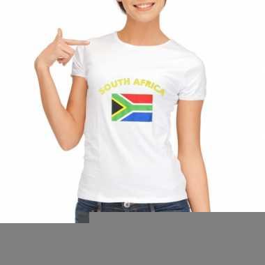 T-shirt met vlag zuid afrika print voor dames