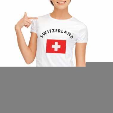 T-shirt met vlag zwitserse print voor dames