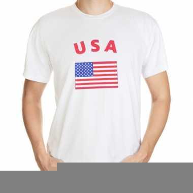 T-shirts met vlag amerikaanse print