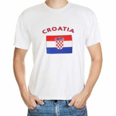 T-shirts met vlag kroatische print