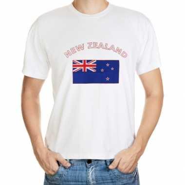 T-shirts met vlag nieuw zeeland