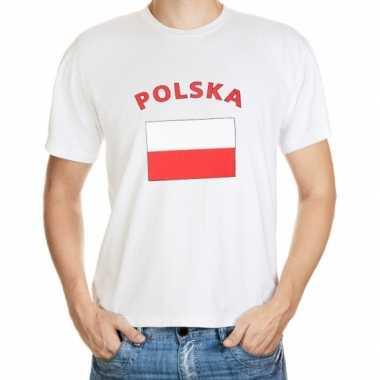 T-shirts met vlag polska print