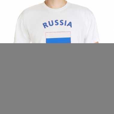 T-shirts met vlag russia print
