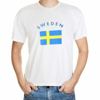 T-shirts met vlag sweden print