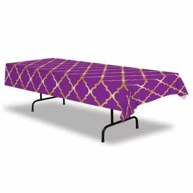 Tafellaken/tafelkleed paars 1001 nacht thema 137 x 274 cm