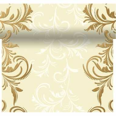 Tafelloper 3-in-1 met sierlijke barok print 4,80 meter