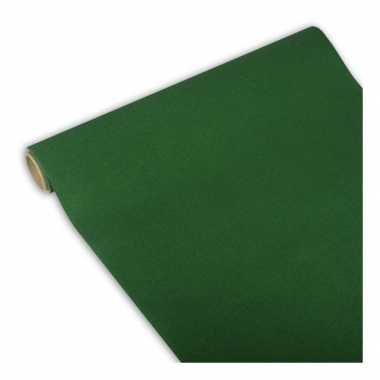 Tafelloper donkergroen 300 x 40 cm papier