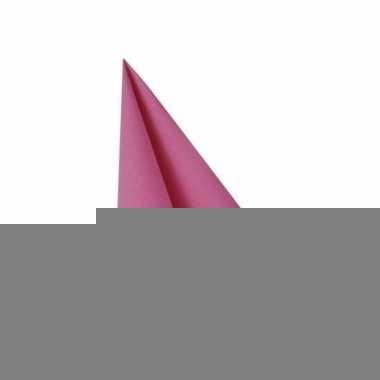 Tafelversiering fuchsia servet 33x33 cm