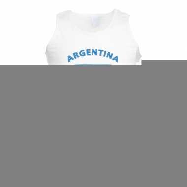 Tanktop met vlag argentinie print