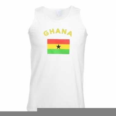 Tanktop met vlag ghana print