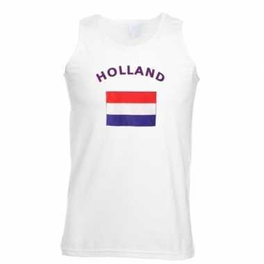 Tanktop met vlag holland print