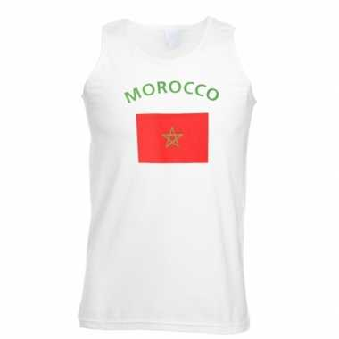 Tanktop met vlag marokko print