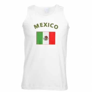 Tanktop met vlag mexico print