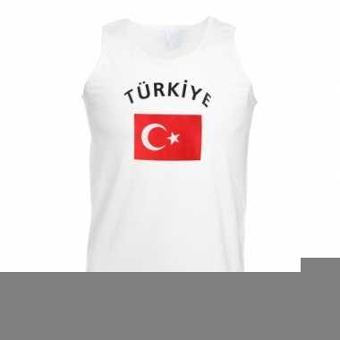 Tanktop met vlag turkey print