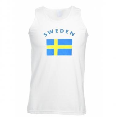 Tanktop met vlag zweedse print