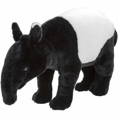 Tapirs speelgoed artikelen tapir knuffelbeest zwart/wit 40 cm