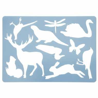 Teken sjabloon noorse dieren