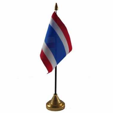 Thailand tafelvlaggetje 10 x 15 cm met standaard