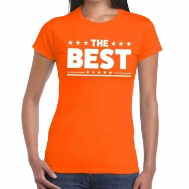 The best tekst t-shirt oranje dames