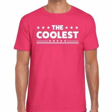 The coolest roze t-shirt heren