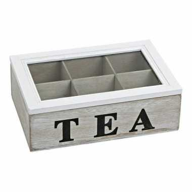 Theedoos 6 vaks white wash tea