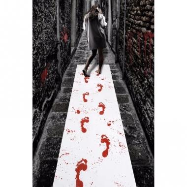 Thema lopers met bloederige voetafdrukken 450 x 60 cm